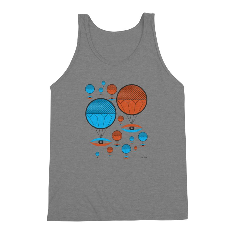 I See You Men's Triblend Tank by DRAWMARK