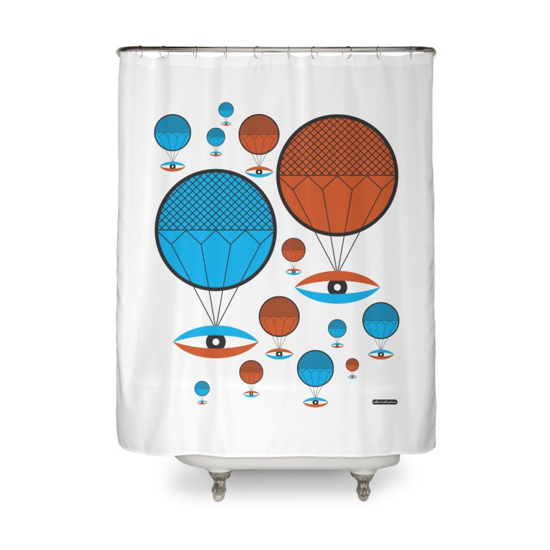 I See You Home Shower Curtain by DRAWMARK