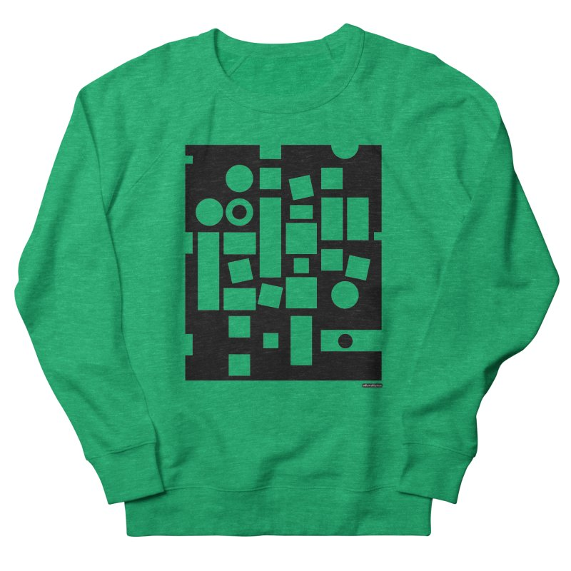 After Albers Negative Men's French Terry Sweatshirt by DRAWMARK