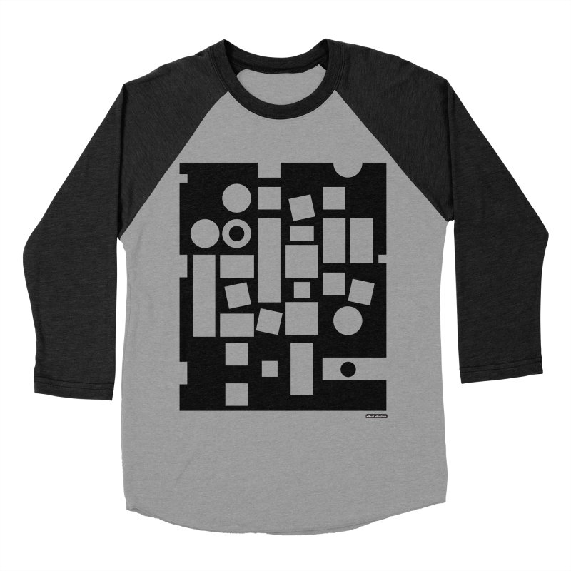 After Albers Negative Men's Baseball Triblend Longsleeve T-Shirt by DRAWMARK