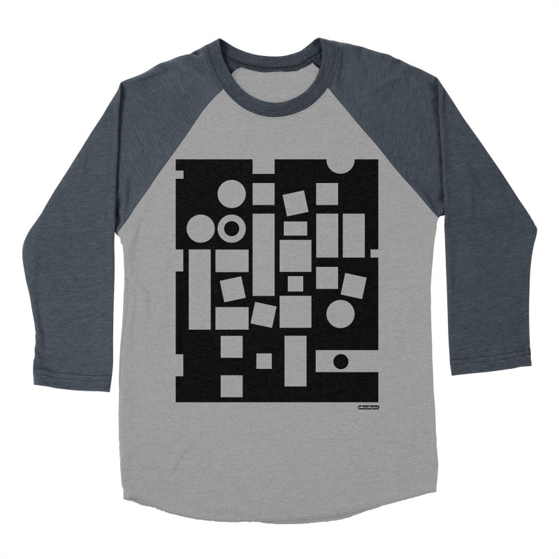 After Albers Negative Men's Baseball Triblend Longsleeve T-Shirt by DRAWMARK