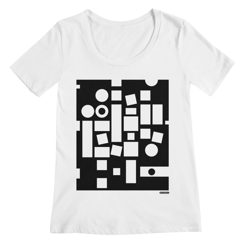 After Albers Negative Women's Regular Scoop Neck by DRAWMARK