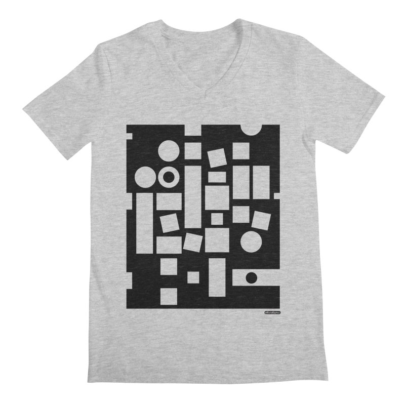 After Albers Negative Men's V-Neck by DRAWMARK