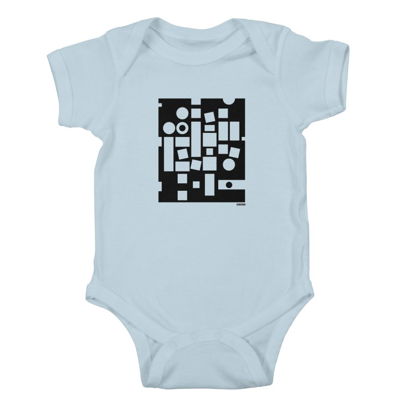 After Albers Negative Kids Baby Bodysuit by DRAWMARK