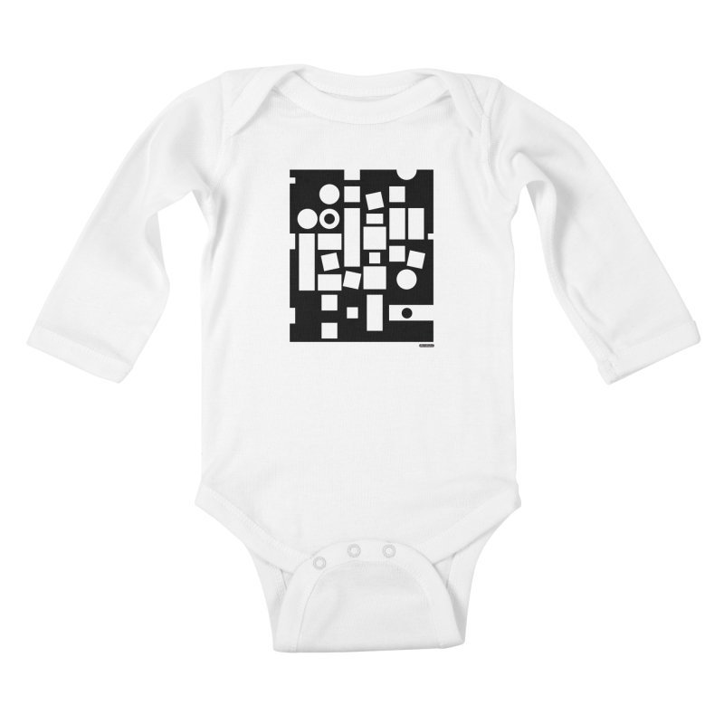 After Albers Negative Kids Baby Longsleeve Bodysuit by DRAWMARK