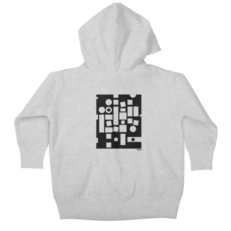 After Albers Negative Kids Baby Zip-Up Hoody by DRAWMARK