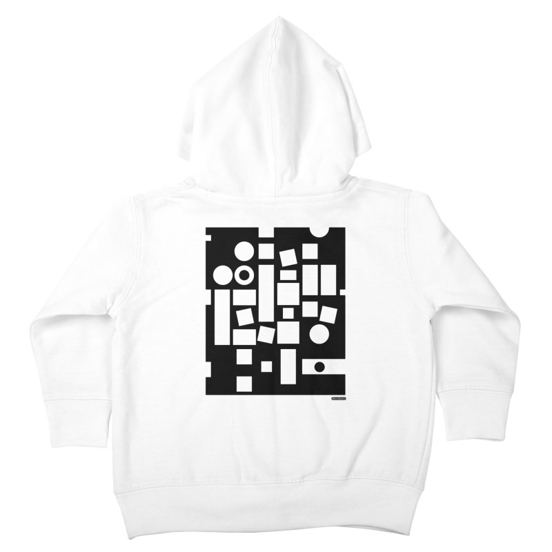 After Albers Negative Kids Toddler Zip-Up Hoody by DRAWMARK