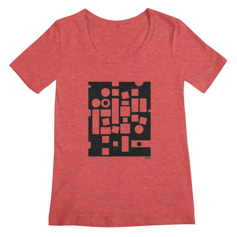 After Albers Negative Women's Scoopneck by DRAWMARK