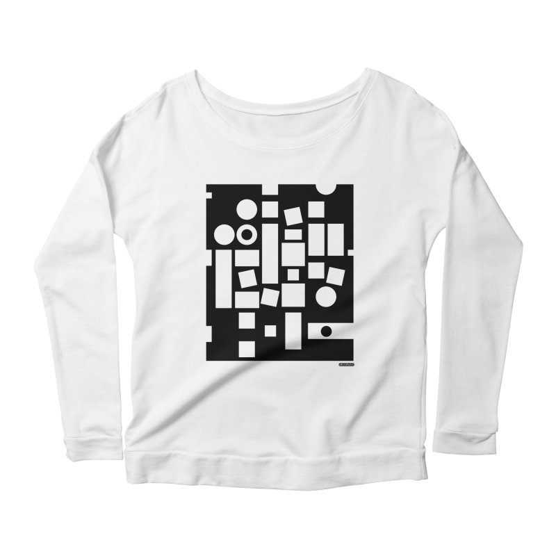 After Albers Negative Women's Longsleeve Scoopneck  by DRAWMARK