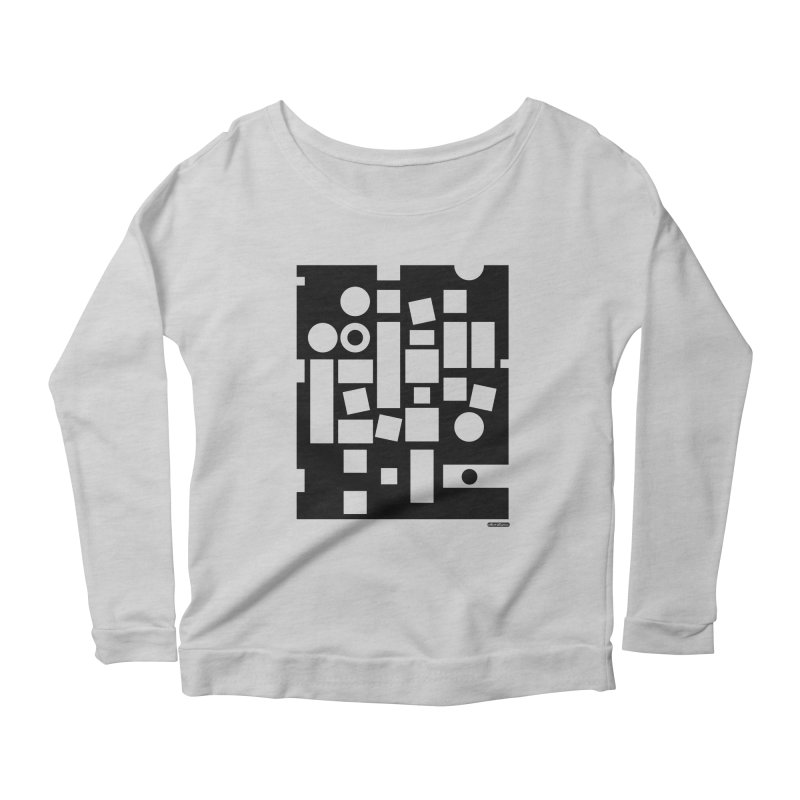 After Albers Negative Women's Scoop Neck Longsleeve T-Shirt by DRAWMARK