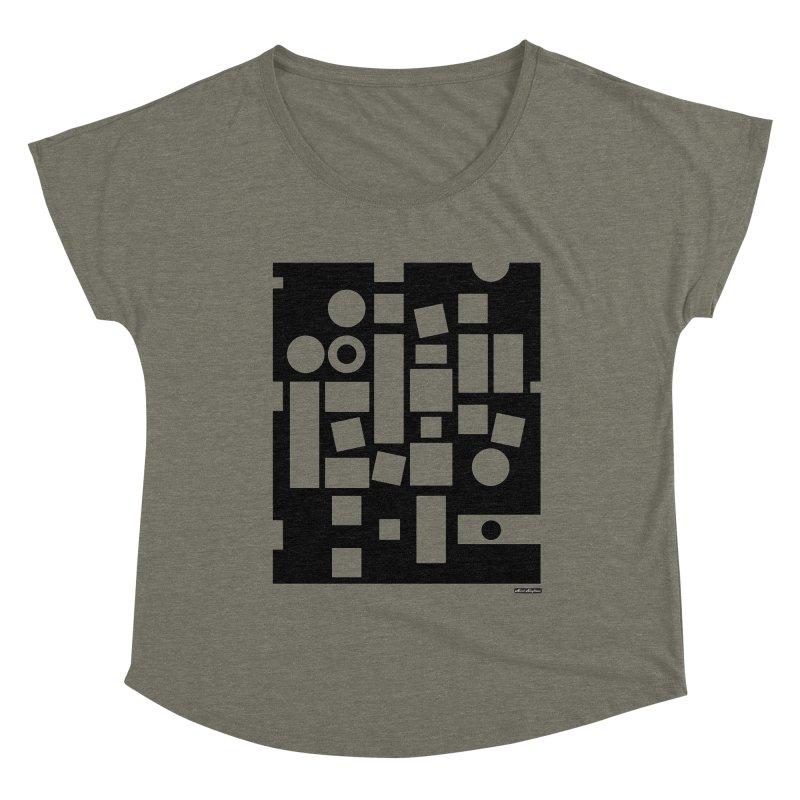 After Albers Negative Women's Scoop Neck by DRAWMARK