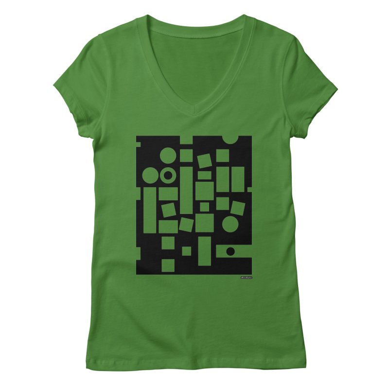 After Albers Negative Women's V-Neck by DRAWMARK
