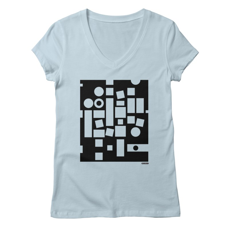 After Albers Negative Women's Regular V-Neck by DRAWMARK