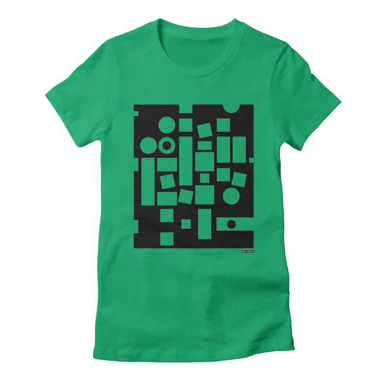 After Albers Negative Women's Fitted T-Shirt by DRAWMARK
