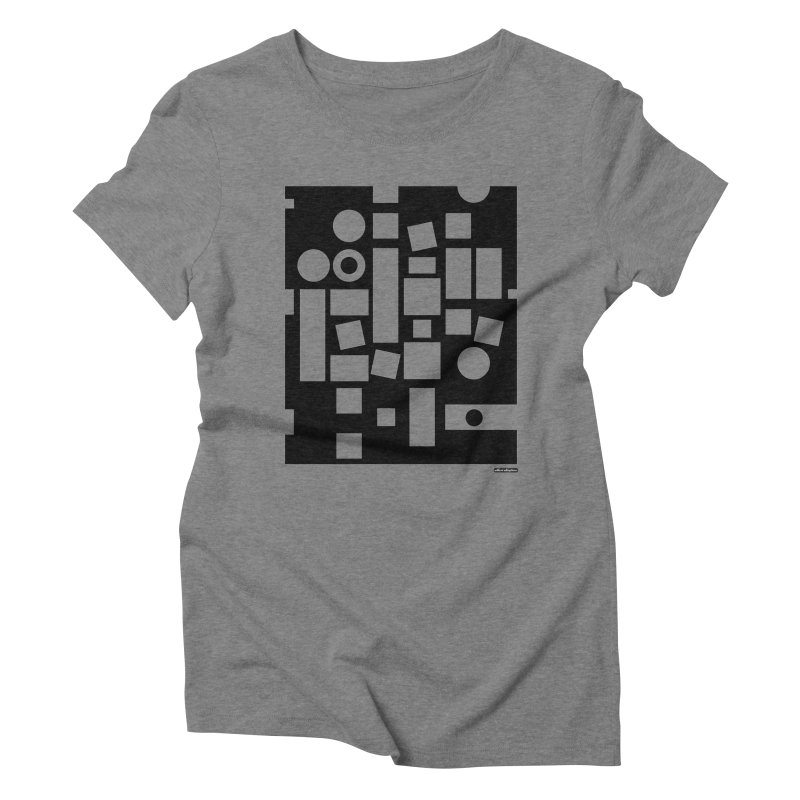 After Albers Negative Women's Triblend T-shirt by DRAWMARK