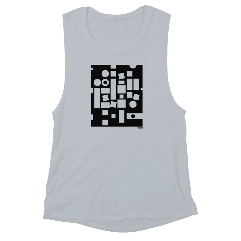 After Albers Negative Women's Muscle Tank by DRAWMARK
