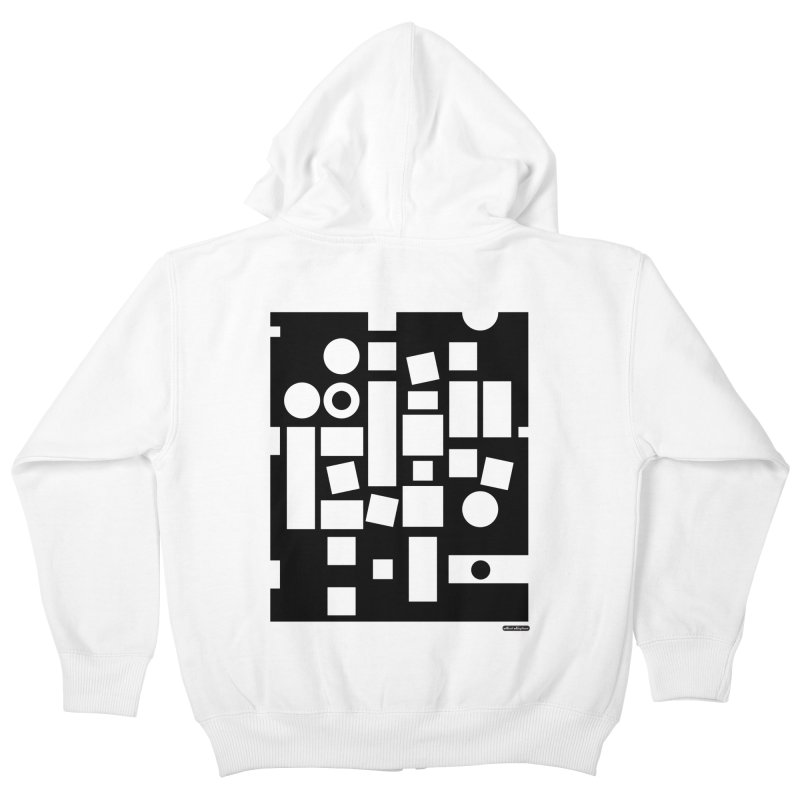 After Albers Negative Kids Zip-Up Hoody by DRAWMARK