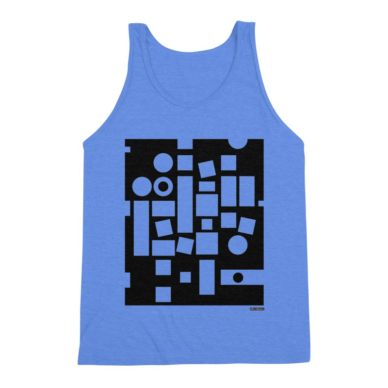 After Albers Negative Men's Triblend Tank by DRAWMARK