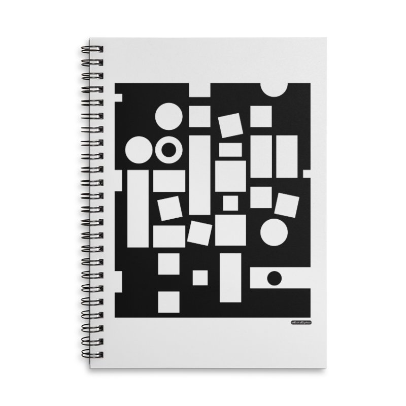 After Albers Negative Accessories Lined Spiral Notebook by DRAWMARK