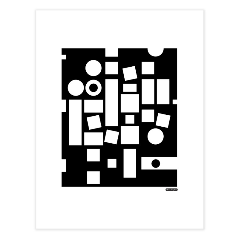 After Albers Negative Home Fine Art Print by DRAWMARK