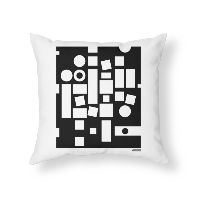 After Albers Negative Home Throw Pillow by DRAWMARK