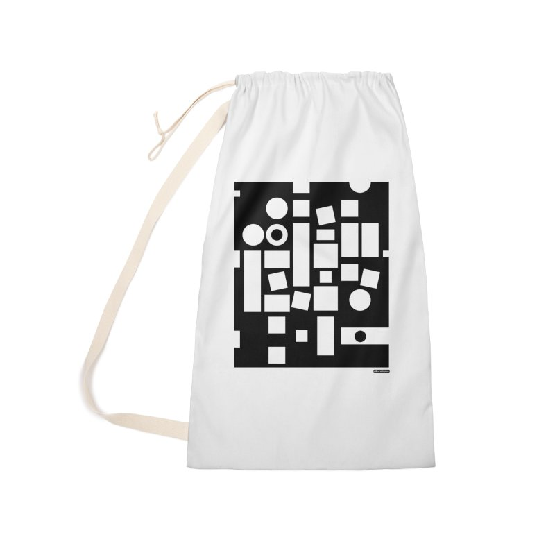After Albers Negative Accessories Laundry Bag Bag by DRAWMARK