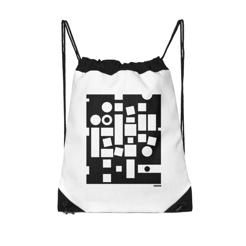 After Albers Negative Accessories Drawstring Bag Bag by DRAWMARK