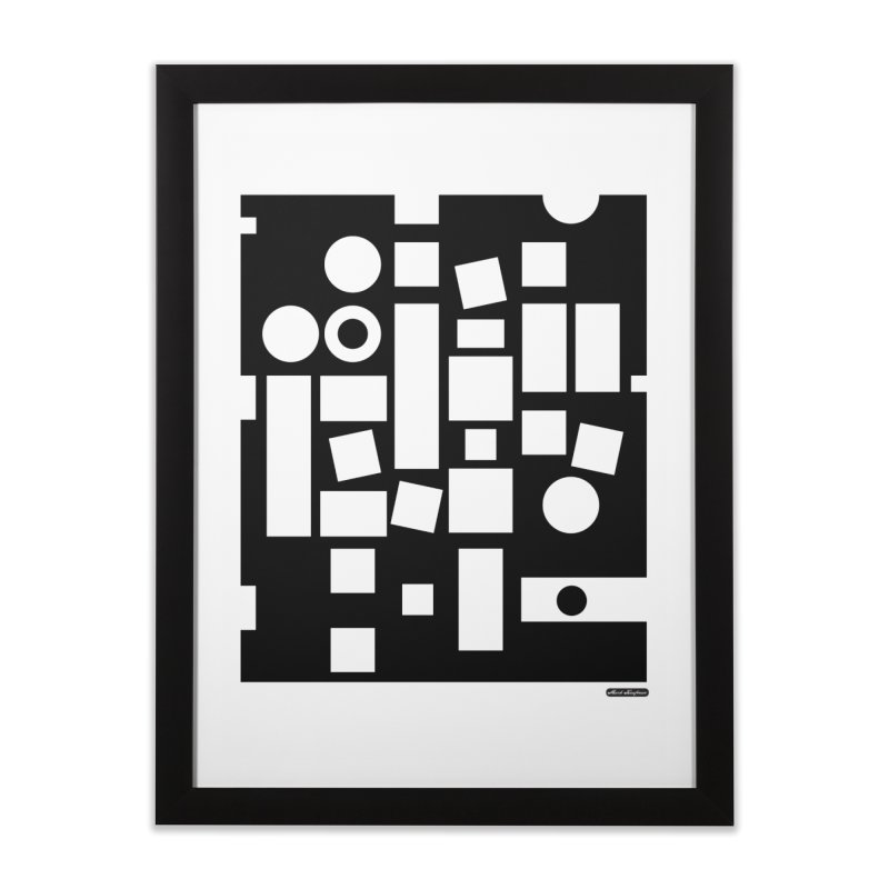 After Albers Negative Home Framed Fine Art Print by DRAWMARK