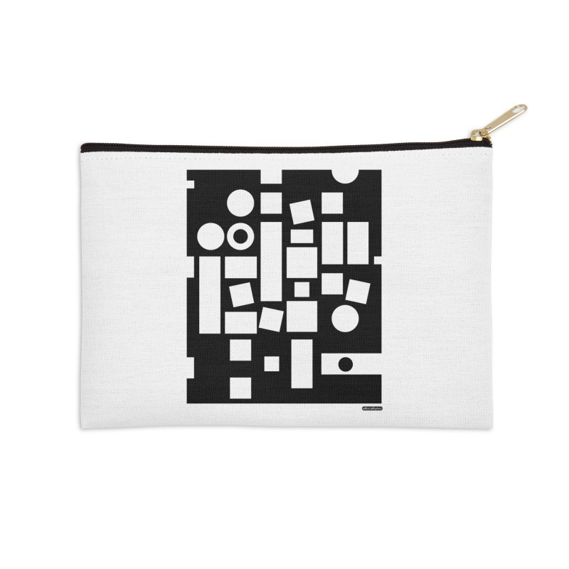 After Albers Negative Accessories Zip Pouch by DRAWMARK