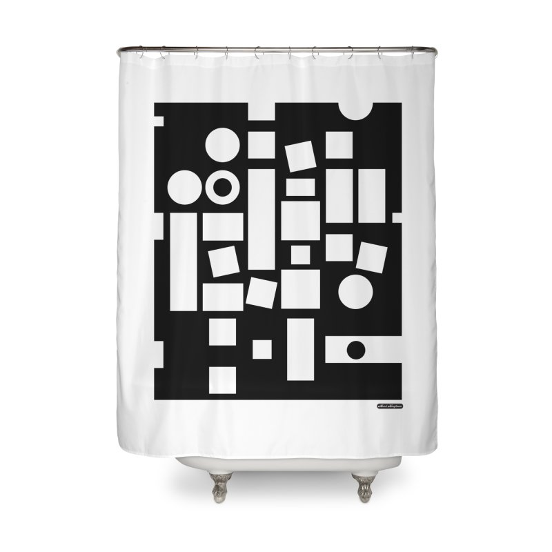 After Albers Negative Home Shower Curtain by DRAWMARK