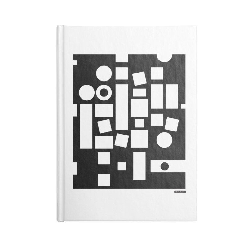 After Albers Negative Accessories Blank Journal Notebook by DRAWMARK