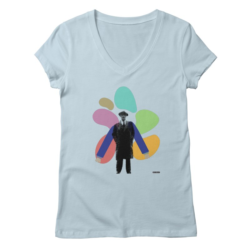 The Shape of Things Women's V-Neck by DRAWMARK