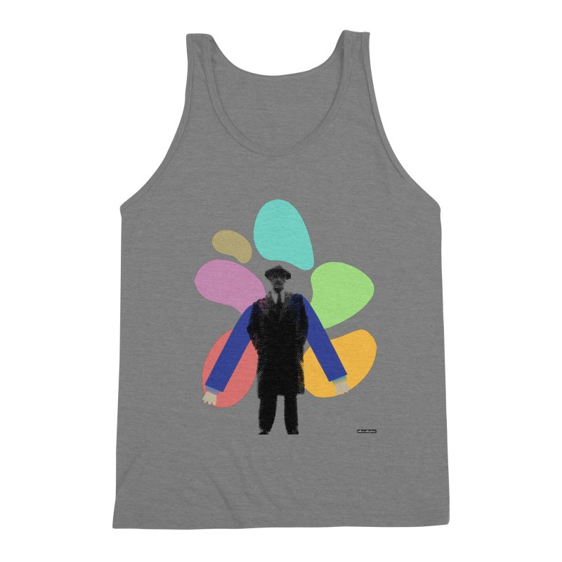 The Shape of Things Men's Triblend Tank by DRAWMARK
