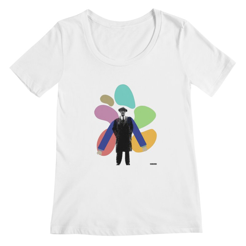 The Shape of Things Women's Scoopneck by DRAWMARK