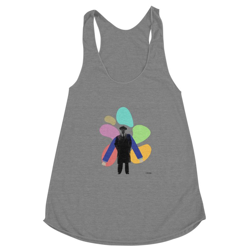 The Shape of Things Women's Racerback Triblend Tank by DRAWMARK