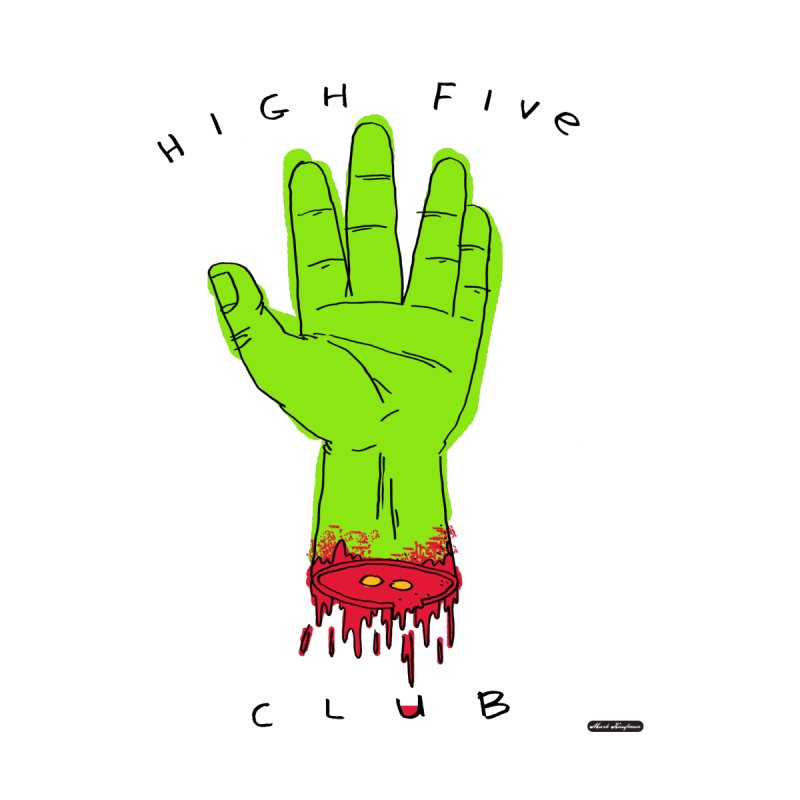 High Five Club Accessories Zip Pouch by DRAWMARK