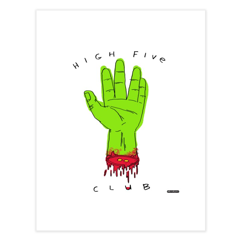 High Five Club Home Fine Art Print by DRAWMARK