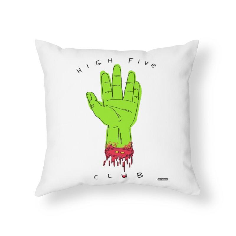 High Five Club Home Throw Pillow by DRAWMARK