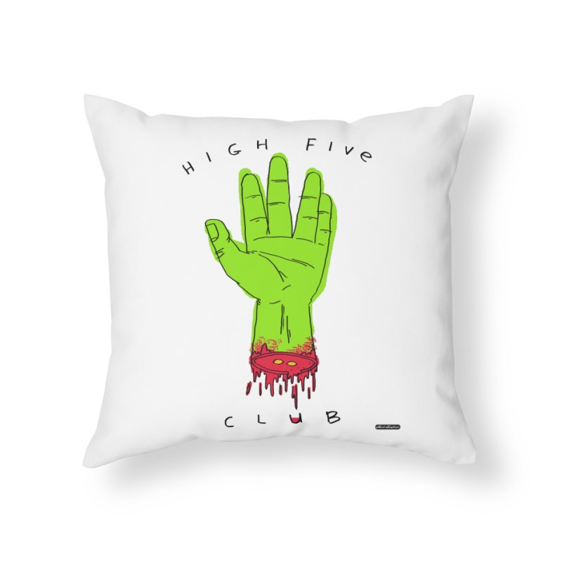 High Five Club Home Throw Pillow by DRAWMARK