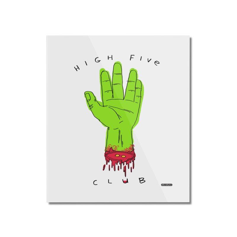 High Five Club Home Mounted Acrylic Print by DRAWMARK