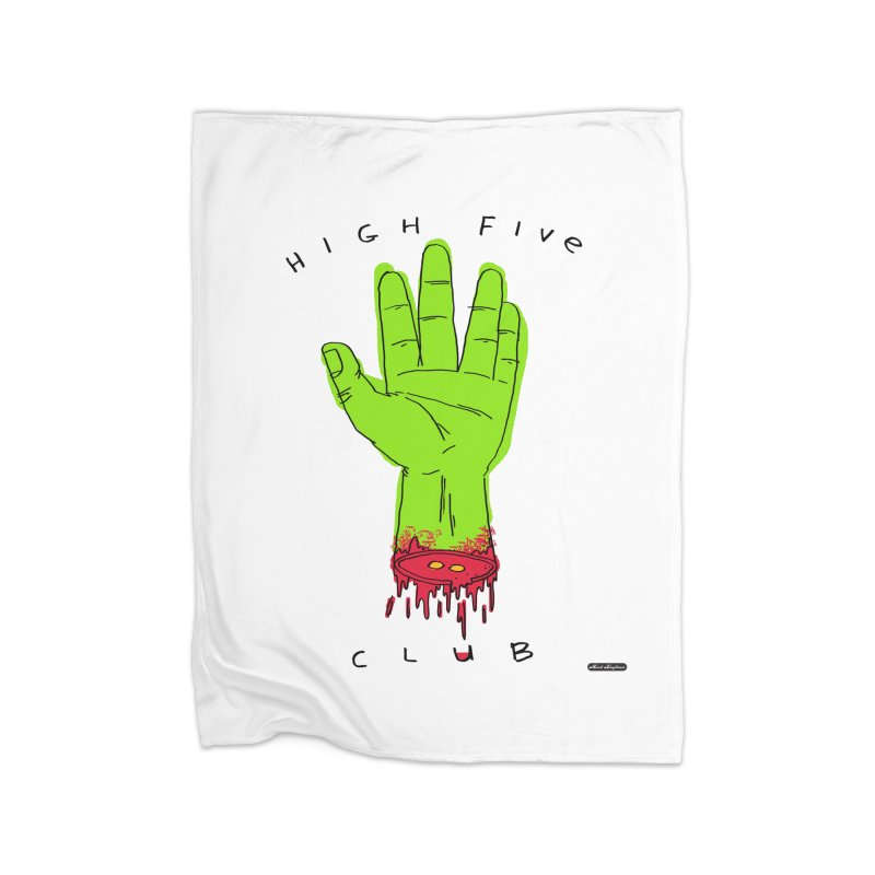 High Five Club Home Fleece Blanket Blanket by DRAWMARK