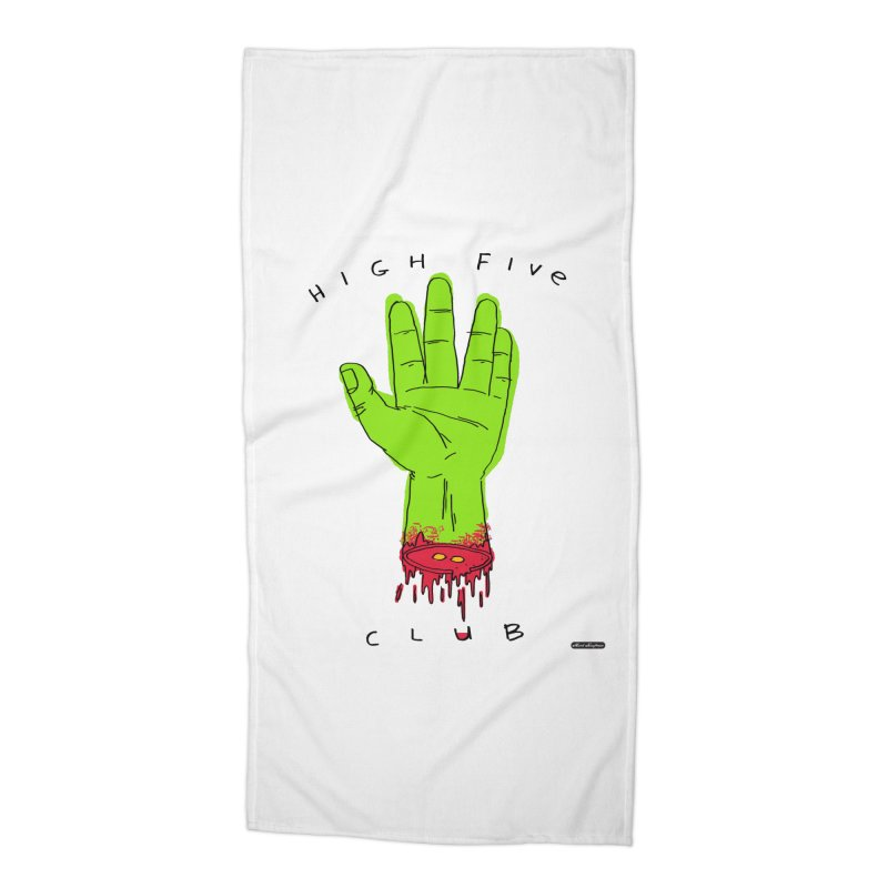 High Five Club Accessories Beach Towel by DRAWMARK