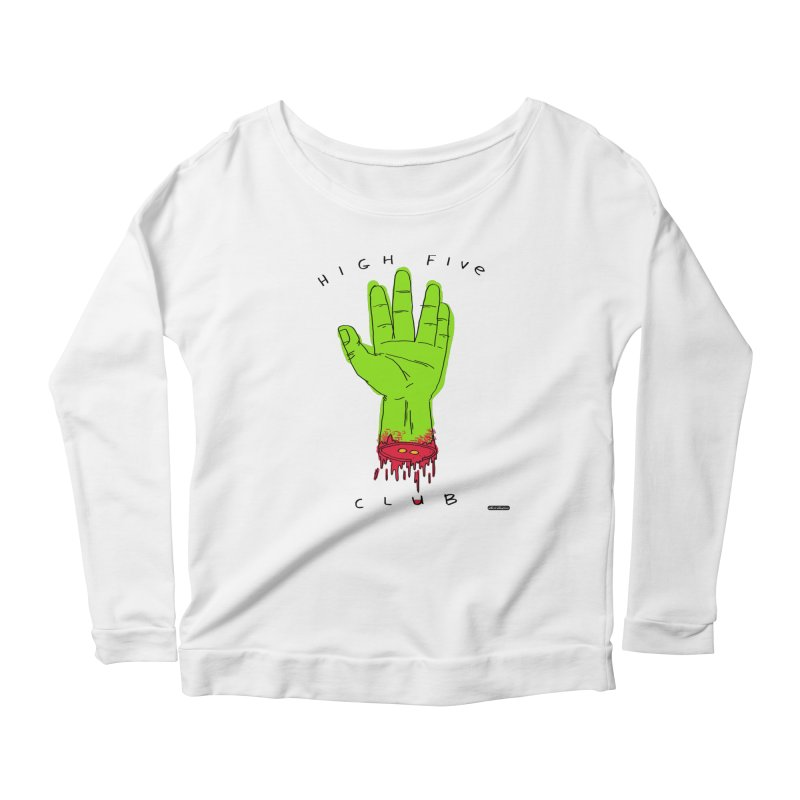 High Five Club Women's Scoop Neck Longsleeve T-Shirt by DRAWMARK