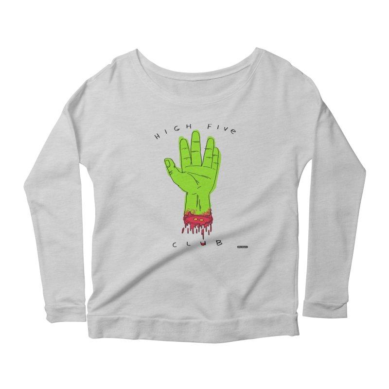 High Five Club Women's Scoop Neck Longsleeve T-Shirt by DRAWMARK