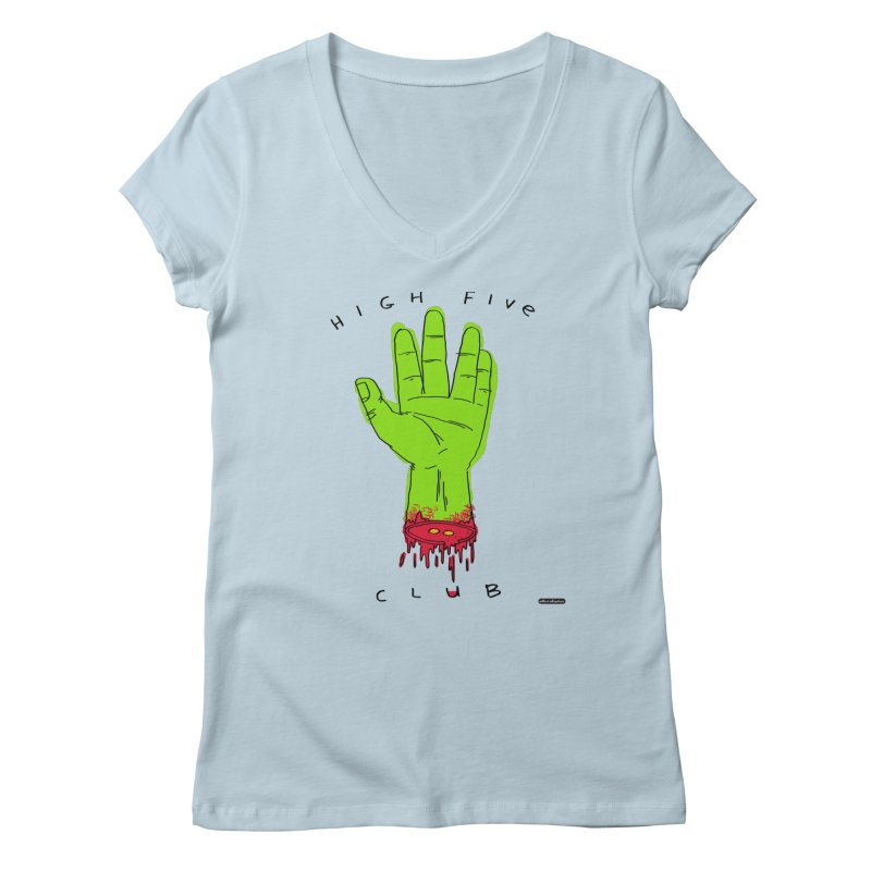 High Five Club Women's Regular V-Neck by DRAWMARK