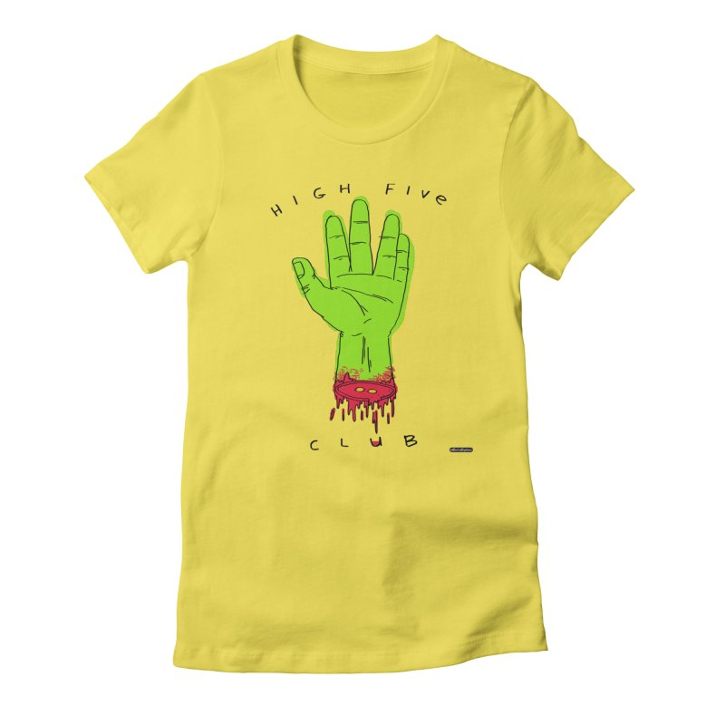 High Five Club Women's Fitted T-Shirt by DRAWMARK