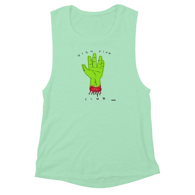 High Five Club Women's Muscle Tank by DRAWMARK