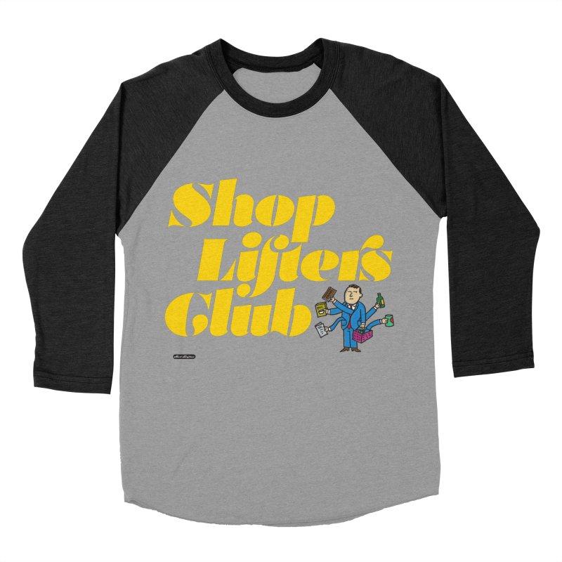 Shoplifters Club Men's Baseball Triblend Longsleeve T-Shirt by DRAWMARK