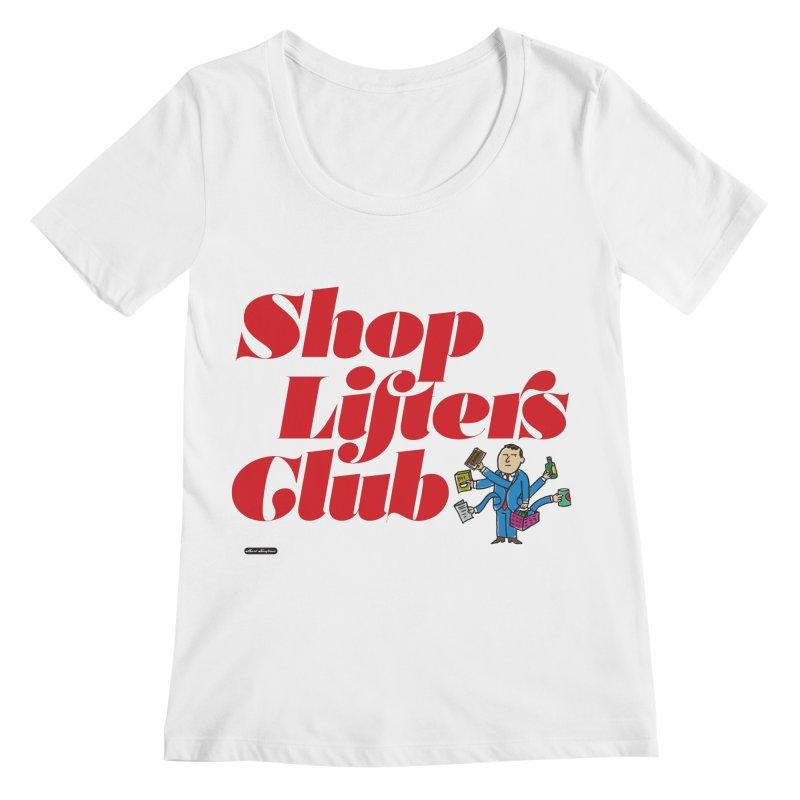 Shoplifters Club Code Red Women's Regular Scoop Neck by DRAWMARK
