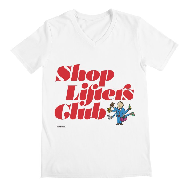 Shoplifters Club Code Red Men's V-Neck by DRAWMARK